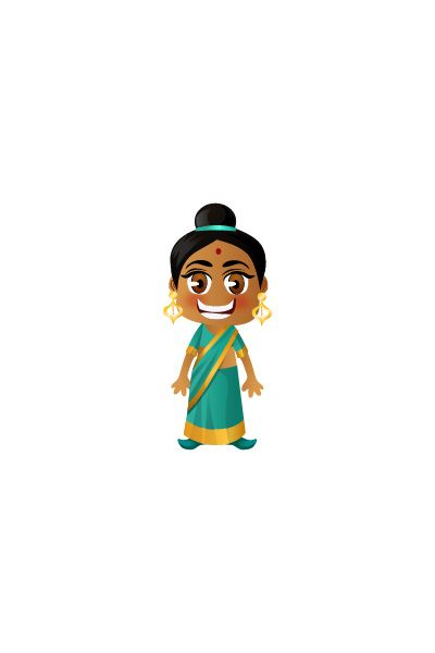 Indian Girl Vector Image #people #world http://www.vectorvice.com/people-world-vector