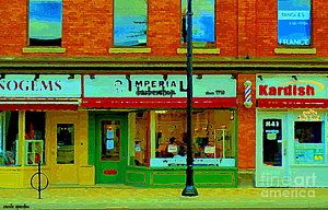 - Imperial Barber Shop The Glebe Kardish Bulk Food Grocers Old Ottawa South Cityscenes Carole Spandau by Carole Spandau