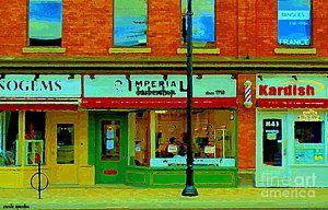 - Imperial Barber Shop The Glebe Kardish Bulk Food Grocers Old Ottawa South Cityscenes Carole Spandau by Carole Spandau