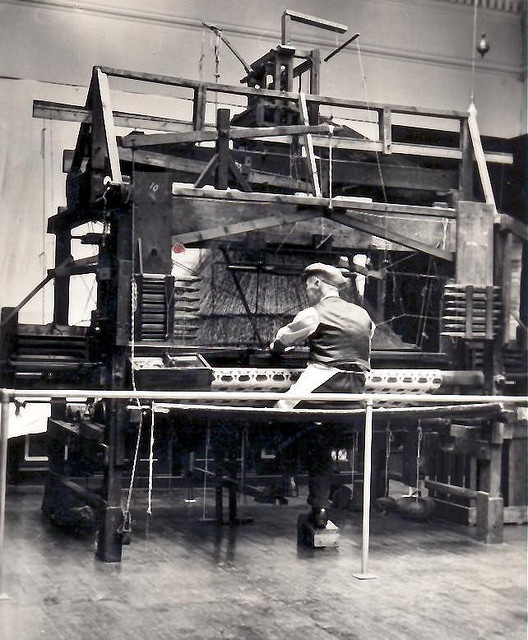 Jacquard loom, used for weaving Paisley shawls after about 1840.