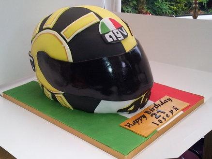 Valentino Rossi life sized replica Gothic design helmet  Cake by Dellissima