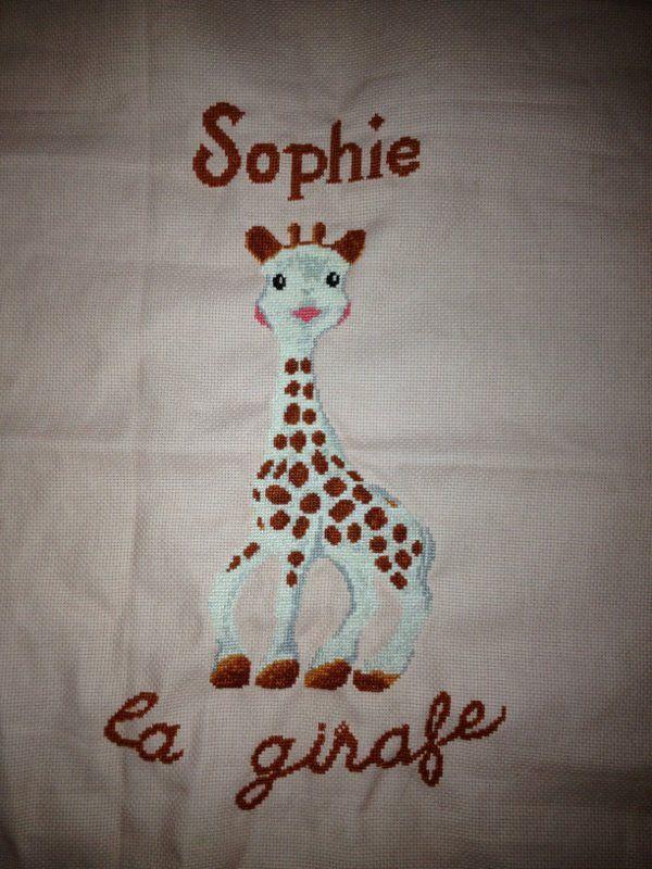 Point de croix Sophie la girafe