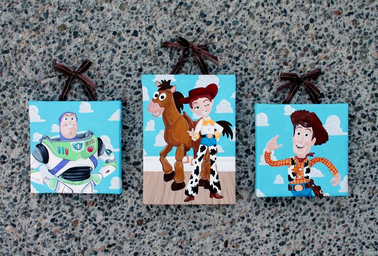 Toy Story Acrylic Paintings On Canvas My Artwork