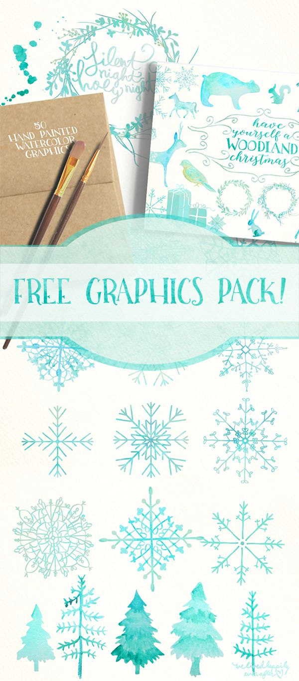 Woodland Christmas Graphics Freebie