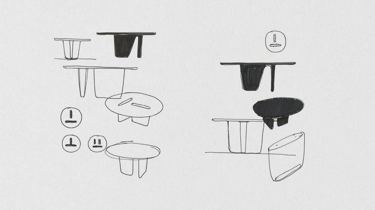 B&B Italia TOBI-ISHI Table by Barber & Osgerby (2012)