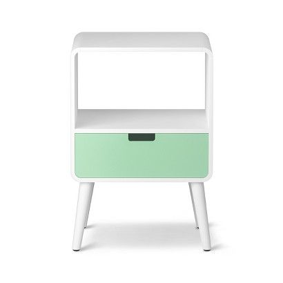 1-Drawer Mid-Century Kids Nightstand - Pillowfort™ - Aqua Mint