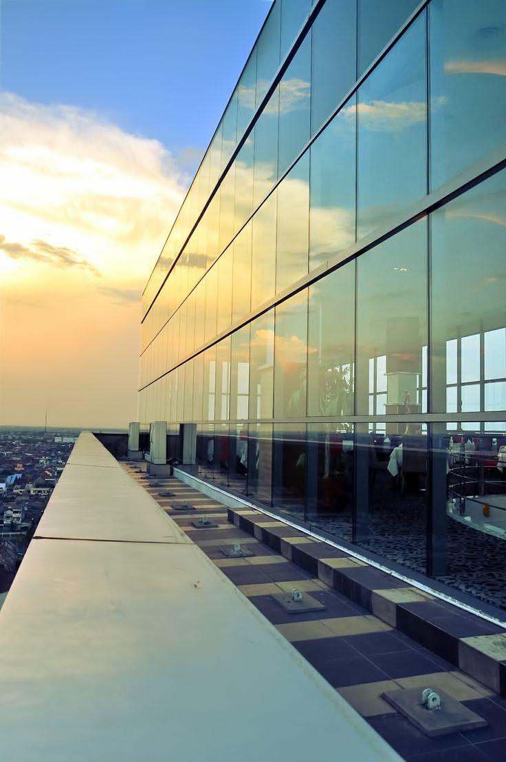 Beautiful view at Gumaya Tower Hotel rooftop , Sky LIne
