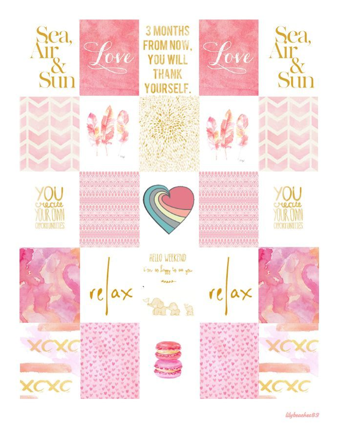 FREE Printable Pink and Gold Planner Stickers: