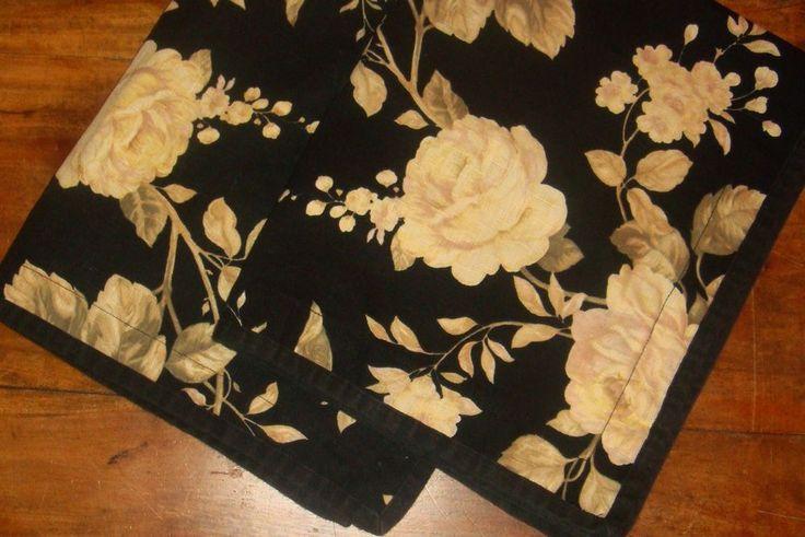 Ralph Lauren 2 Winter Rose Floral Standard Pillow Shams