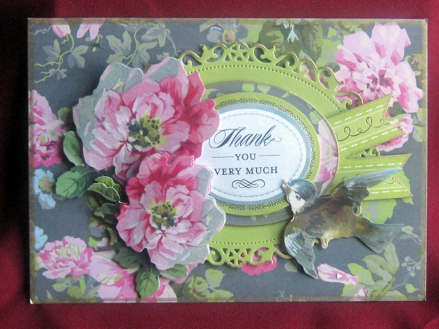High Quality Another TY Card Courtesy Of Anna Griffin Supplies   Spellbinder Dies;  Krylon Pen Outlines And