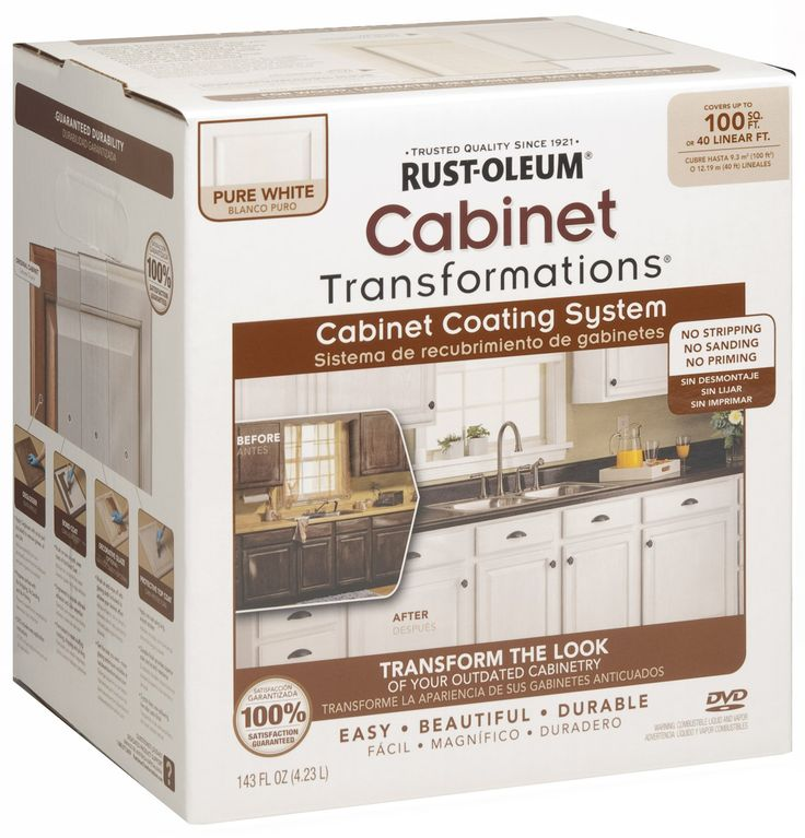 kitchen cabinet paint kit rust oleum 263232 cabinet transformations small kit 5634