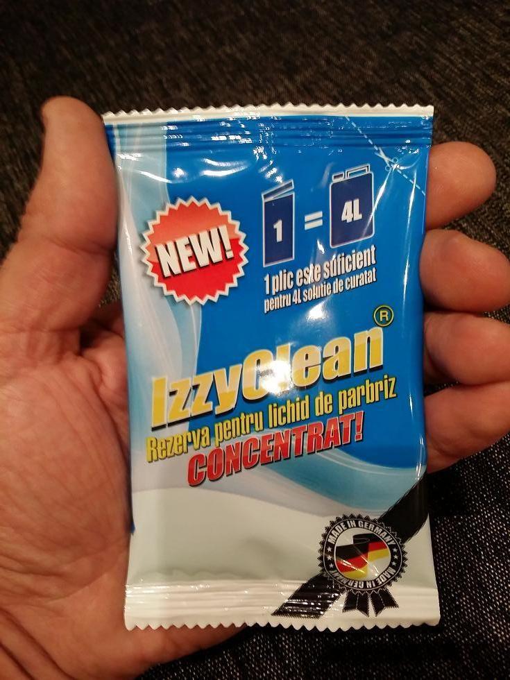 Pentru un parbriz curat foloseste concentratul lichid de la IzzyClean. Cu doar 40 ml obtii 4L detergent pentru spalat parbrizul. http://izzyclean.ro/produse/concentrat-lichid-spalat-parbriz/