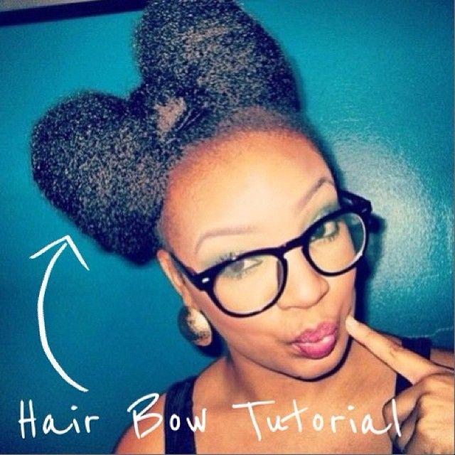 Check out our tutorial on achieving this cute hair bow style on any texture. Visit CurlsUnderstood.com!   natural hair curls