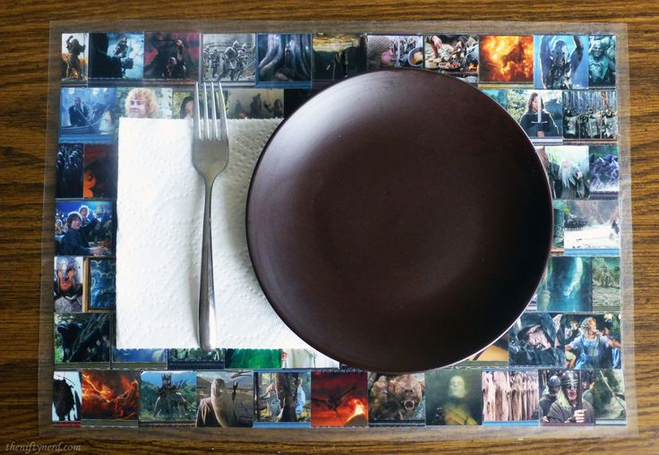 DIY Trading Card Kitchen Table Placemats   Magic the Gathering, Pokemon, Yu-Gi-Oh, Lord of the Rings geek craft and nerdy project.