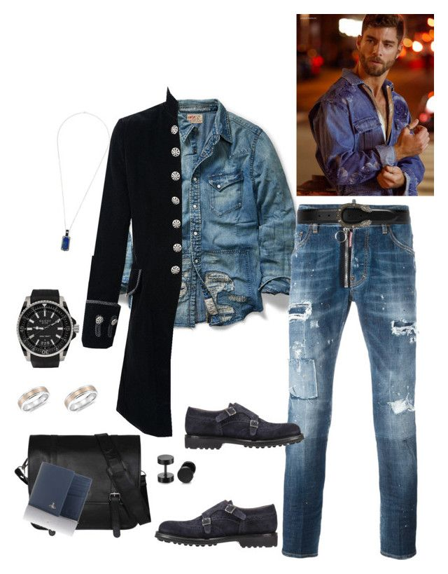 """Untitled #619"" by lianatzelese on Polyvore featuring Ralph Lauren, Dsquared2, Gucci, Doucals, Blue Nile, Sterling & Pelle, Vivienne Westwood, Stephen Webster, men's fashion and menswear"