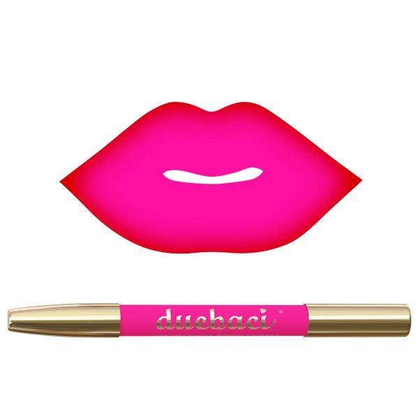Neve Cosmetics | DUEBACI POWER Natural color gradient Lipliner + Lipstick in tonalità rosso fragola + fucsia freddo neon.