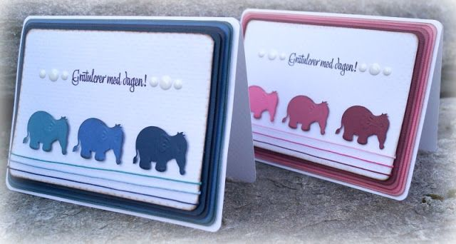 Mitt Lille Papirverksted: Bursdags Elefanter