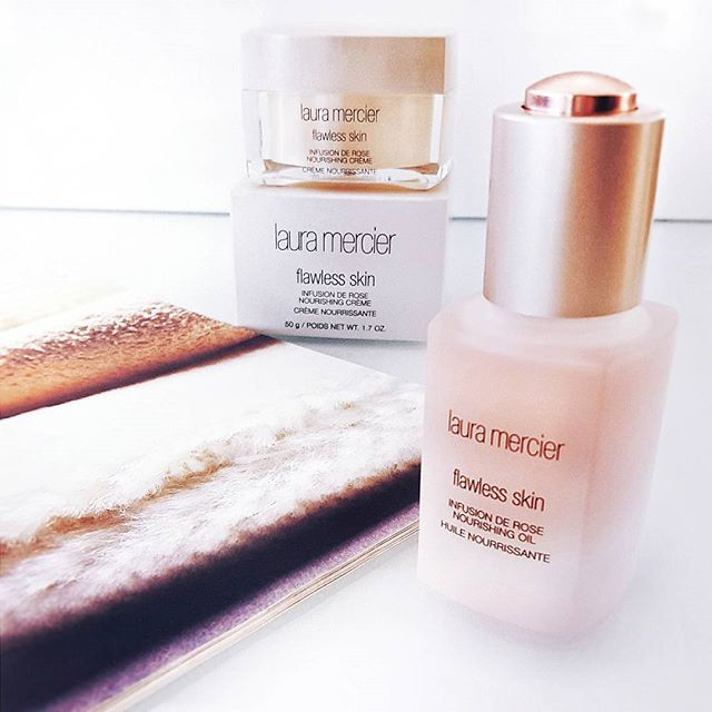 Waited so long to get them both! The texture of the creme is to die for! It feels like lightly whipped, melted clouds on the face!  Infusion de Rose  A collection of balancing, restorative products enriched with Rosehip Seed Oil - #lauramercier