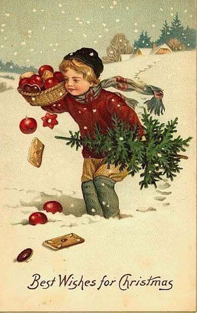 Antiche Immagini Di Natale.Antiche Cartoline Di Natale Le Chiccherie Cartoline