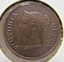 1845 STRAITS SETTLEMENTS (EAST INDIA COMPANY) 1/4 CENT