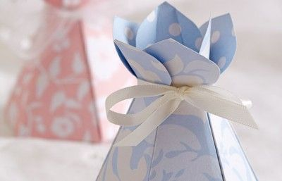 DIY cone gift box download the template