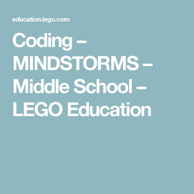 Coding – MINDSTORMS – Middle School – LEGO Education