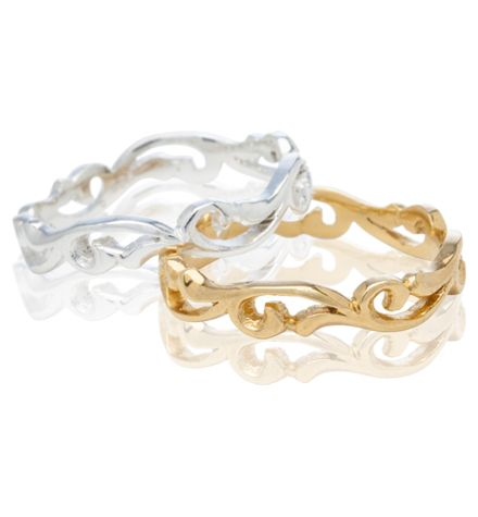 Holly Bands in white gold / yellow gold