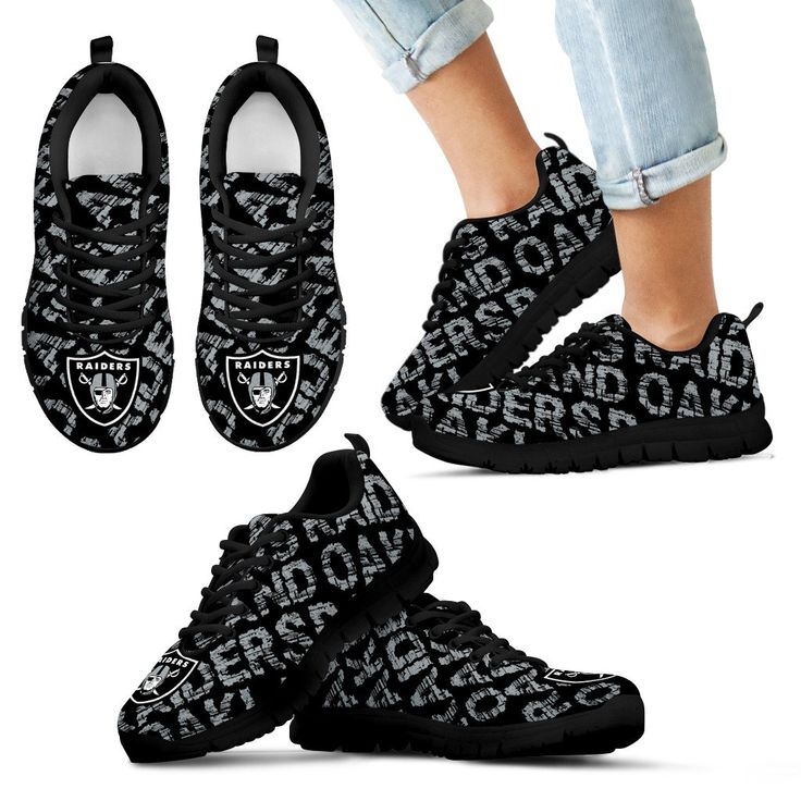 Vintage Logo Beautiful Oakland Raiders Sneakers V2 – Best Funny Store