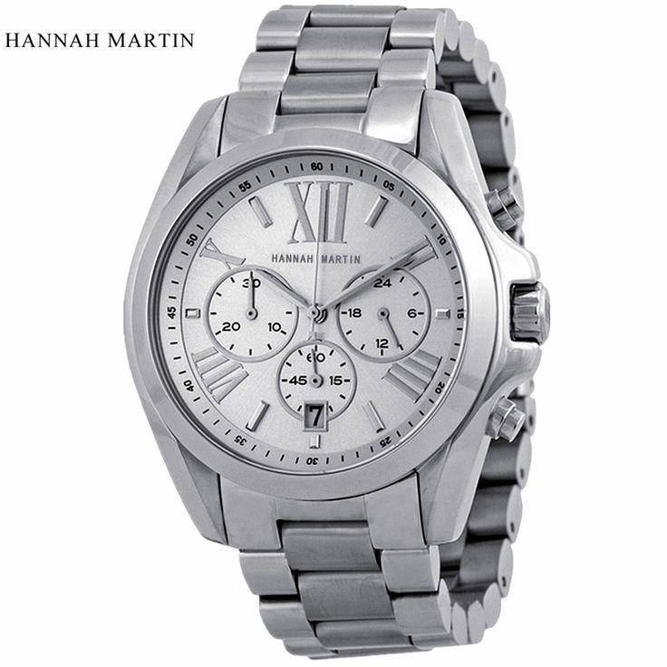 2017 Oversized Silver Men Quartz Watch Fashion Luxury Top Brand Waterproof Stainless Steel Casual Wristwatches relogio masculino