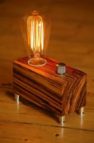 Modern meets retro in this zebrano valve lamp http://www.worktop-express.co.uk/solid-wood-worktops