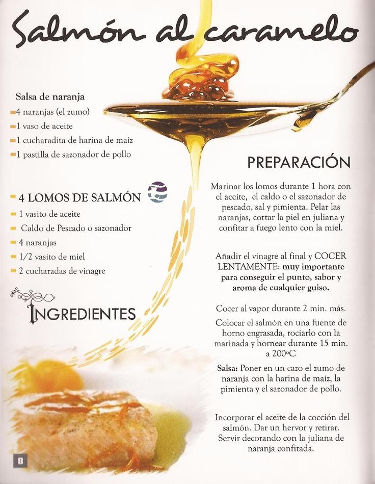 """Salmón al caramelo  """"Del mar a su Puerta"""" Pescados y Mariscos Frescos a Domicilio www.bondadesdelmar.com"""