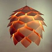 Wooden Pinecone Shape Small chandelier – USD $ 119.99
