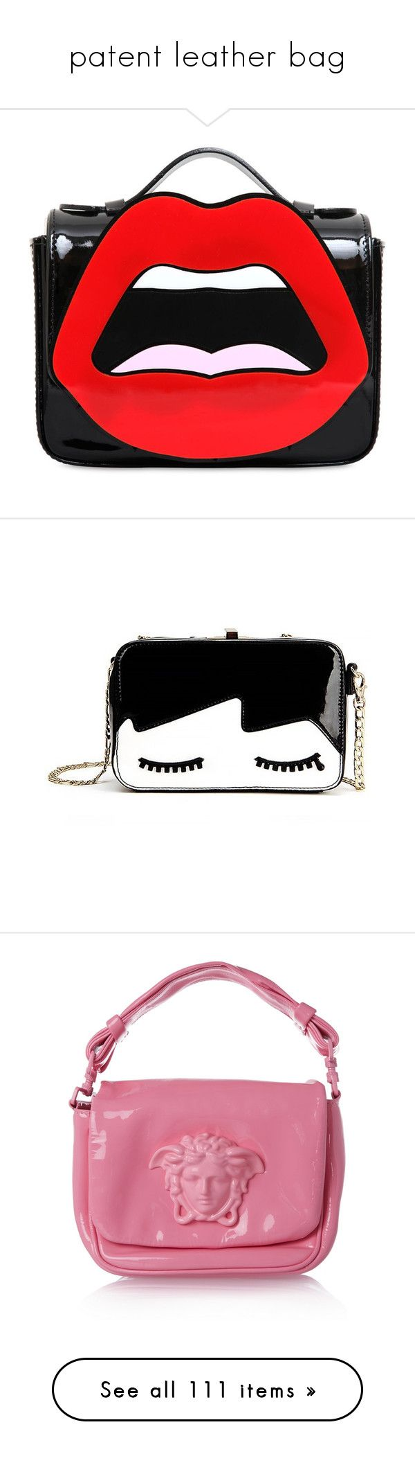 """""""patent leather bag"""" by cattrina-k ❤ liked on Polyvore featuring bags, handbags, shoulder bags, purses, bolsas, clutches, handbags shoulder bags, red patent handbag, red shoulder handbags and red patent leather handbag"""