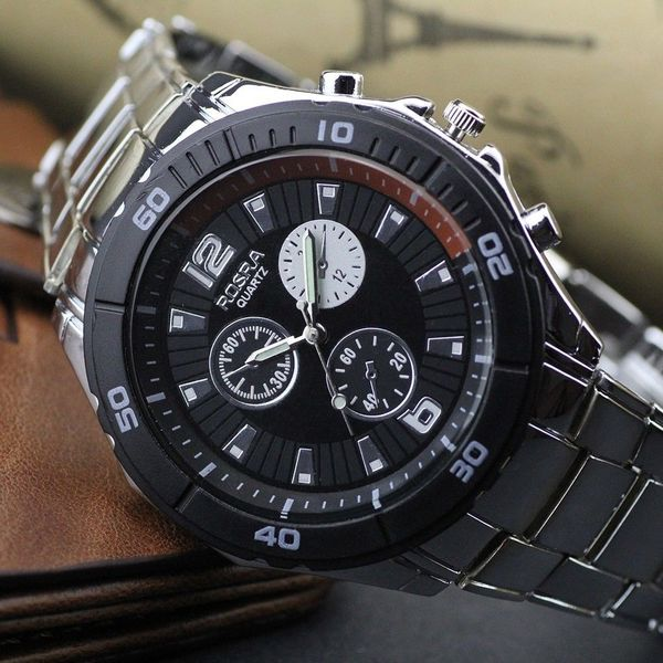 WIN NOW: Silvery Stainless Steel Black Watch