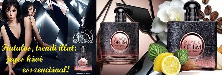 """Yves Saint Laurent Black Opium Floral Shock női parfüm 2017  Fiatalos, érzéki és trendi - jeges kávé esszenciával! Yves Saint Laurent népszerű Black Opium illatcsalád új kiadása, 2017 elején jelent meg, Black Opium Floral Shock néven. Az új kiadás frissebb változata az alapműnek. Virágos gyümölcsös gourmand és zöld aromájú illat, az első, amely """"jeges kávé"""" jegyeket tartalmaz. Az új kompozíció a gyümölcsös - florientális és """"Shock"""" családjához tartozik. Az illat fejjegyében frissítő citrom…"""