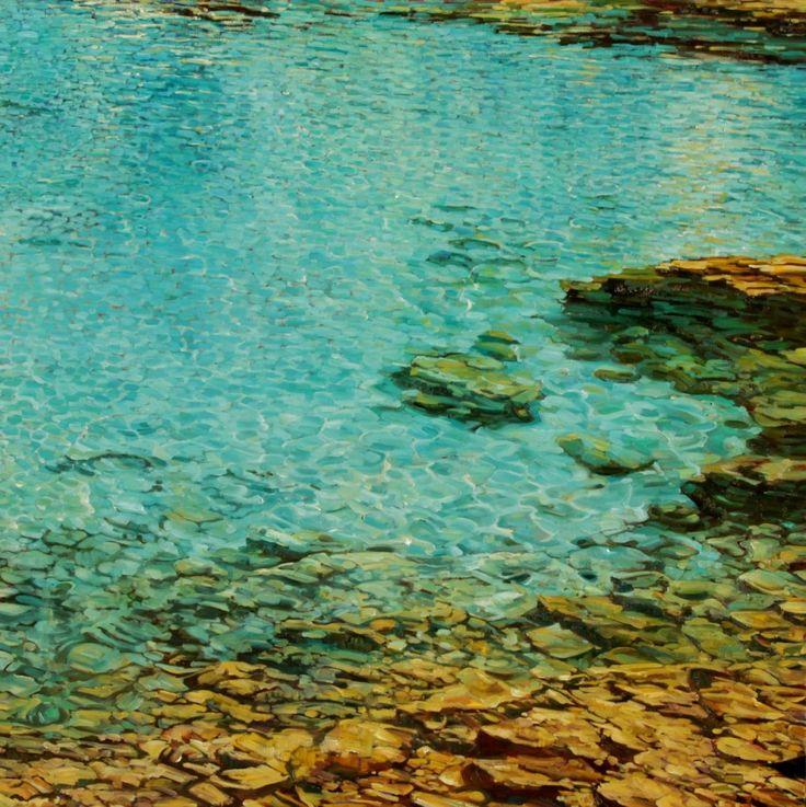 """Water Painting """"Mediterranean Blues II"""" http://carolinezimmermann.com/CZblog/water-paintings/"""