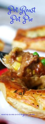 Pot Roast Pot Pie_ a FANTASTIC use for your leftover pot roast!! Step-by-step photos.