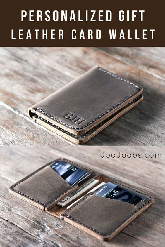 5cce187e148ee I love this handmade leather wallet I found at JooJoobs. You can get it  personalized with a name
