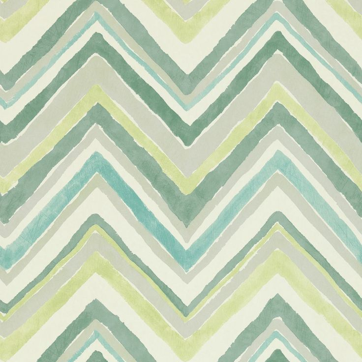 zigzag wallpaper in aqua/chartreuse from sanderson
