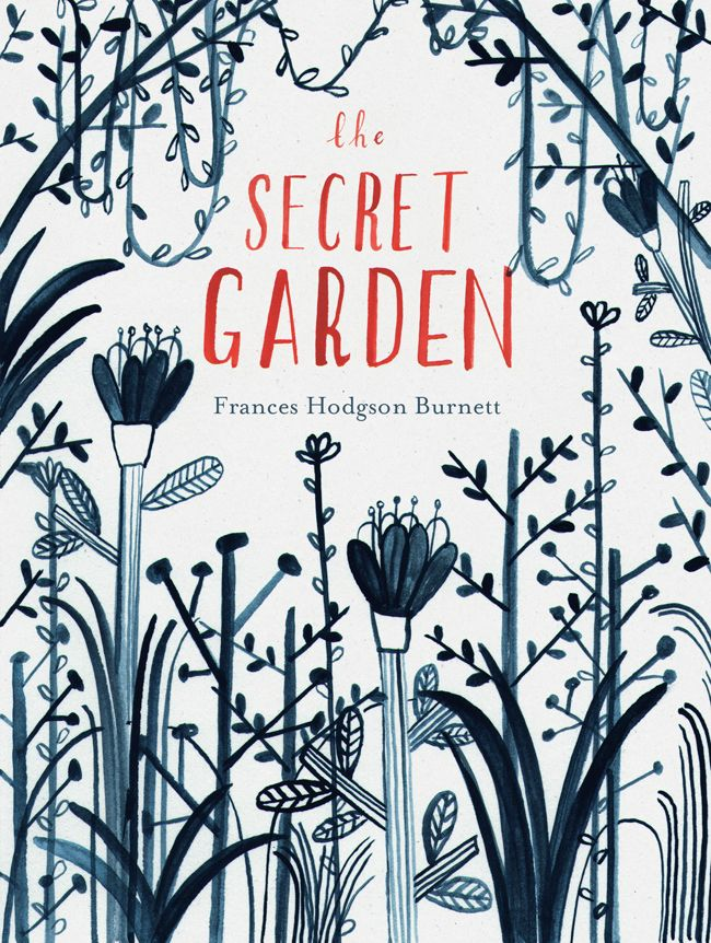 Book cover illustration by Lizzy Stewart.  El jardín secreto. Una niña, una tapia, gente. 70% recomedable. Un clásico.