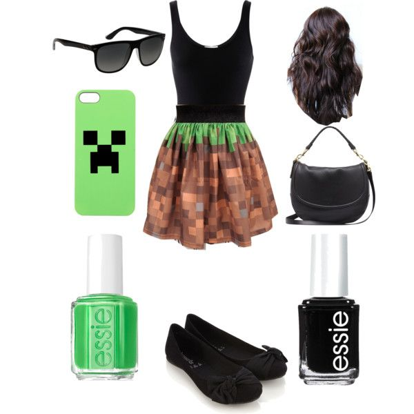 Not a big fan of outfits inspired by games, but this is pretty cool anyways.: Creepers Outfit, Cool Minecraft Stuff, Minecraft Outfit, Outfit Inspiration, Big Fans, Minecraft Fashion, Minecraft Clothing, Minecraft Dresses, Minecraft Inspiration