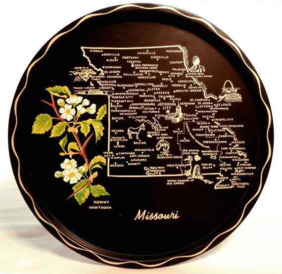 Fun Built-In Shelf Collection: Missouri Map Tray Metal Serving Platter with by CandyAppleCrafts