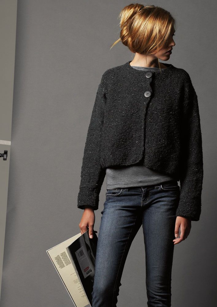 Link is to a knitting pattern, but I just love the look.