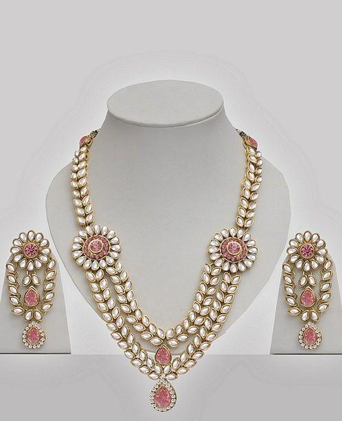 Pink Kundan Jewellery Set