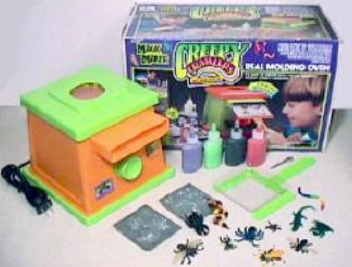 Creepy Crawlers! I have this exact one! Still in my basement. A little broken but I believe it still works. I spent many a splendid hour playing this while all the other girls played with dolls aha.