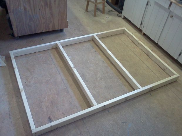 Metal Bed Frame Twin Size Greenforest Two Head