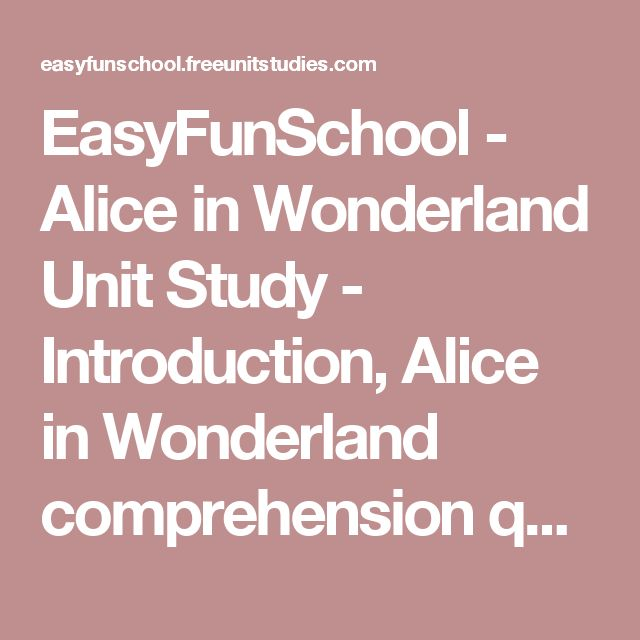 """alice in wonderland essay questions """"young children's questions are often profoundly philosophical"""" (5), and their  philosophical  asked """"can we have alice in wonderland for our next chapter  book""""  there followed a long discussion two weeks later about """"what is god ."""