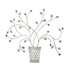 This flower basket metal dimensional wall art looks great in the lounge area and it brings a touch of nature into your home. At R199.99 at mrphome.