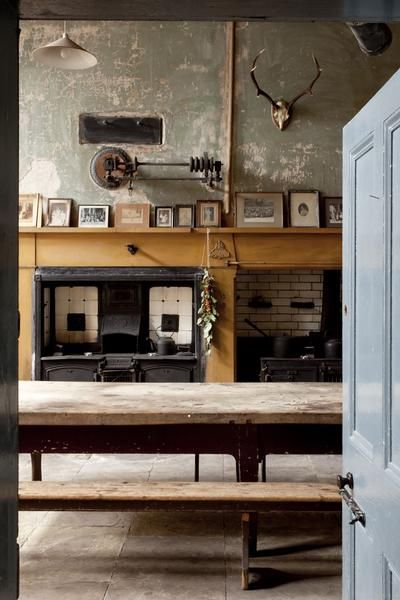 English country kitchen.  Not a fan of the clutter but like the bones