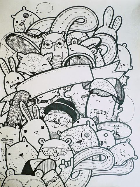 #monsters #doodle by #dushky